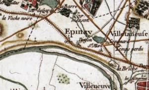 Carte d'Épinay-sur-Seine, 1790, (D.R)